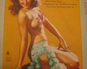 Earl Moran Advertising Permit Mail Pin up Girl Belly Dancer