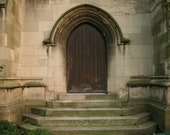 Custom Order 3 Gothic Door with Arch and Steps Photograph