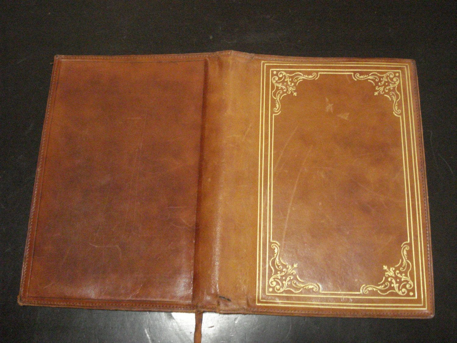 Vintage Leather Book Cover : Vintage leather book cover leonards florence italy