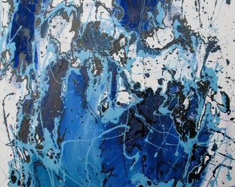 Blue Danube Original Abstract Painting