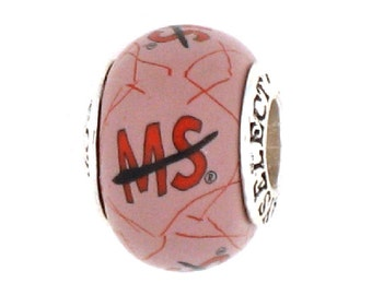 MS Awareness Jewelry Bead Charm supporting the National MS Society for all European Charm Bracelets by MAYselect by May Tagher, MAYcreations