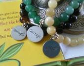Strength,Courage & Wisdom Gemstone Bracelet Trio