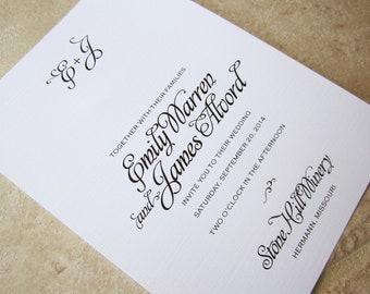 Wedding Invitation Artsy Swirl Invitation - Sample