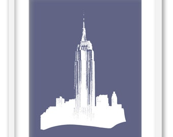 Empire state building.  NYC Wall Art decoration print. 8x10 FREE SHIPPING.