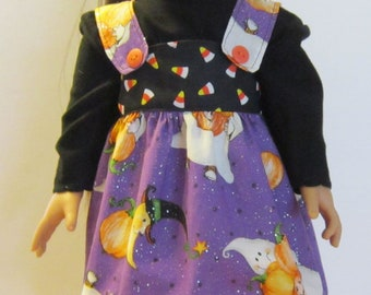 Ghost jumper outfit for 18in  American Girl Doll