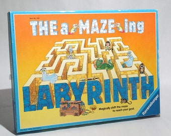 The aMAZEing Labyrinth Game from Ravensburger 1988 COMPLETE (read description)