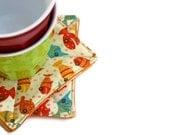 Lollipop Fish Fabric Coasters - Set of 6