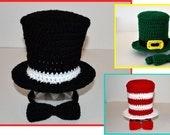 PATTERN Top Hat & Bow Tie - Crochet