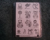 Reserved for Karen - Stampin' Up Buttons, Bows, & Twinkletoes Rubber Stamp Set.  New/Unmounted