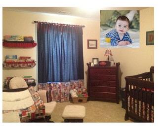 Custom Nursery Bedding with Free Name Pillow