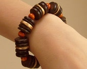 Bracelet with Wood, Handmade