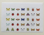 Butterfly Circular Stickers 2.5cm or 1 inch