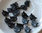 24pcs, Lovely Black Cat Plastic Button (B-011)