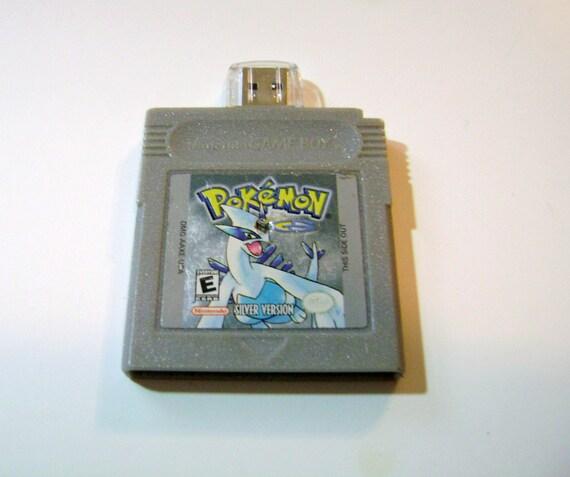 Pokemon Silver 4 Gb USB 2.0 Flash Drive - Gameboy Game Cartridge