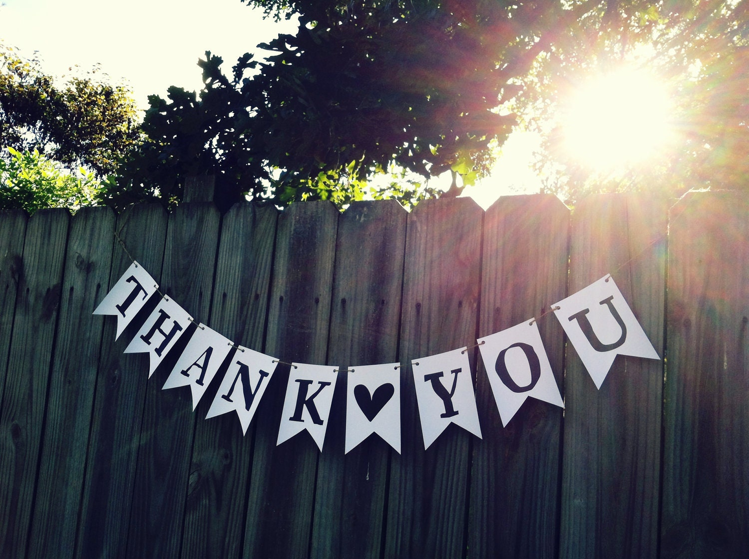 Transformative image inside thank you banner printable