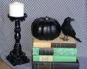 vintage black and green book collection bundle display for home decor photo props shabby cottage antique