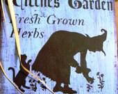 Witches Garden Sign
