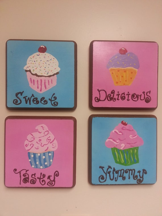 cupcake kitchen accessories decor items similar to cupcake theme kitchen home decor on etsy 6323