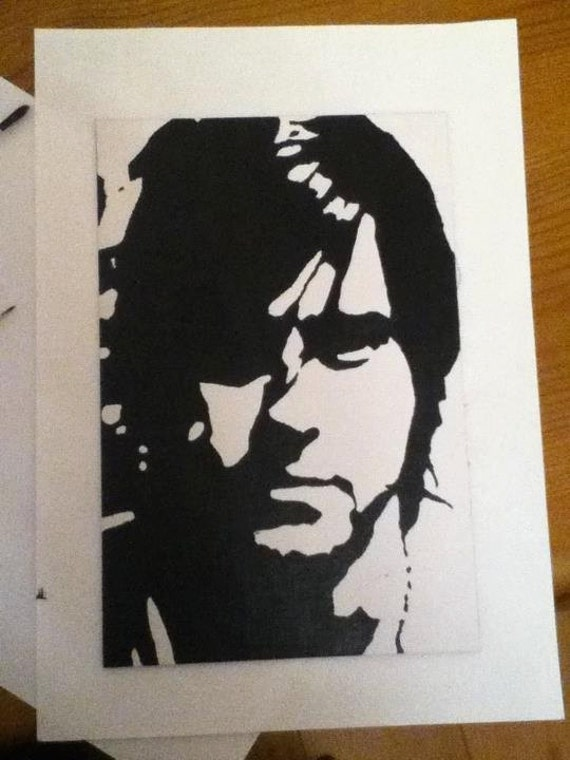 Jared Leto High Contrast Acrylic Painting