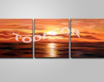 Wall decor  Home decor art Wall decor art framed seascape paintings: Seascape ET-520-1-1 , Free shipping