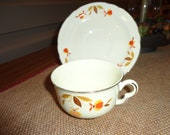 On Sale Collectible Halls Autumn Leaf China Cup and Saucer