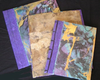 """Handmade Japanese-style Side-binding Journals and Albums - Medium size 8"""" h x 10"""" w"""