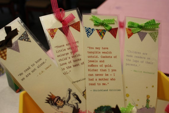 Children's Book Themed Bookmarks