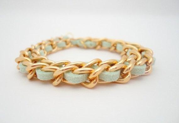 Double Wrap Bracelet in Mint Green