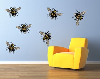 """Honeybees Bees Wall Decal Graphics 22x22"""" Home Decor"""