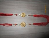 Neckless made with Golden Grass and Semi-Precious Stone from Brazil. All handmade.