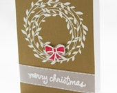 Gold Merry Christmas Card