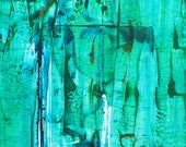 ICN-12091 Abstract Turquoise modern painting by williampaints 36x24 (24x36)