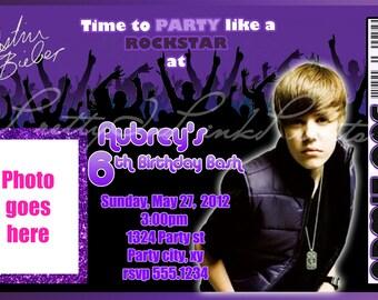 Justin bieber invitation