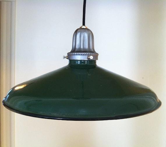 Vintage And Industrial Lighting From Etsy: Items Similar To Green Porcelain Light, Vintage, Enamel