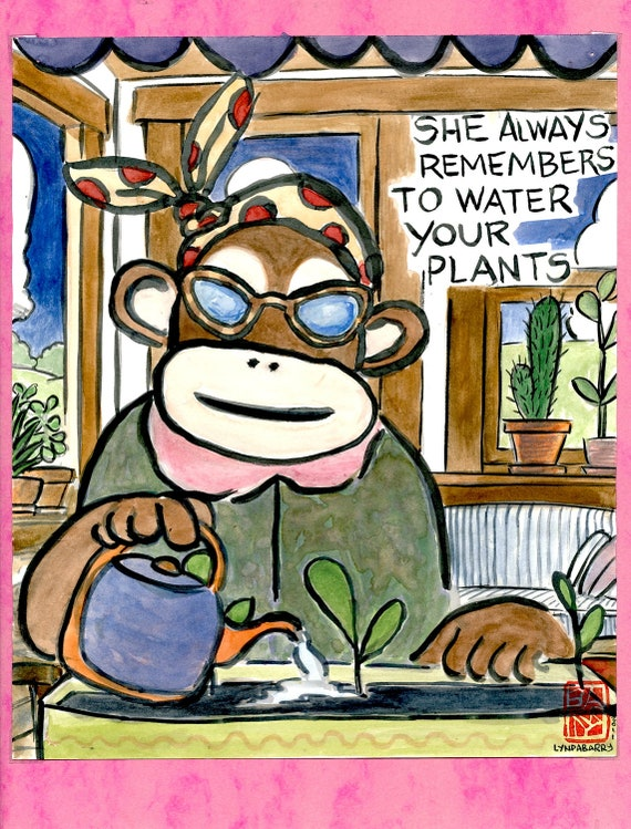 RARE: The Near-Sighted Monkey Remembers to Water your Plants
