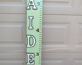 Keepsake wooden growth chart with custom wooden letters