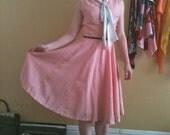 1950's Pink Sailor Dress XS/S