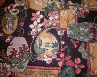 Victorian Print Fabric - 1 Yard and 33 Inches