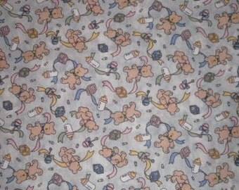 Baby bears print fabric