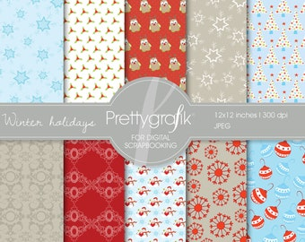 80% 0FF SALE Christmas digital paper, commercial use, scrapbook papers, background - PS559