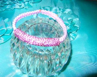 Shamballa Tube Violet  Crystal Bracelet Violet String