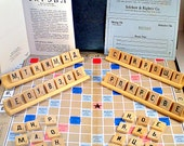 Russian Scrabble Foreign Edition Vintage Board Game