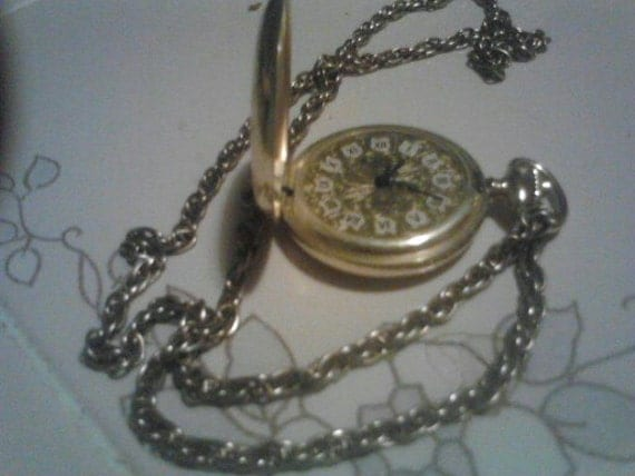 Vintage North Star 17 Jewels Wind up Small Pocket Watch . Works Fine Great Condition   France