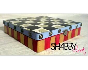 GORGEOUS Whimsical Hand painted decorative keepsake box
