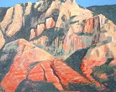 Sedona giclee print of an original acrylic painting on canvas