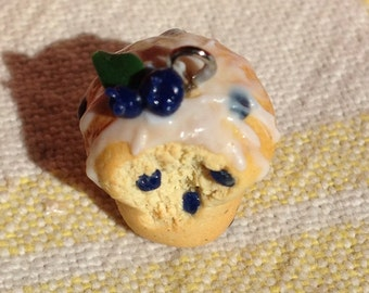 Sweet Little Blueberry Muffin Necklace