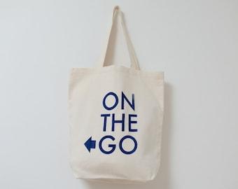 Organic Canvas bag, Eco Bag, navy