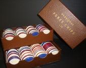 Vintage Poker Chips Peau-Doux 1950s Boston Terrier Poker Chips RARE