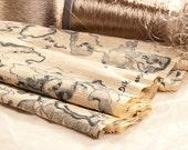 A printed silk fabric. An original design by Dikla Levsky