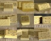 Choose 9 handmade natural soap samples